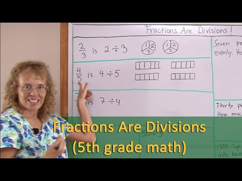 Fractions Are Divisions (5th Grade Math)