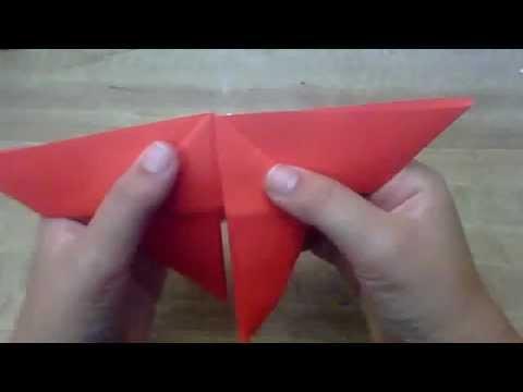 Tutorial c mo hacer una mariposa de papel origami - Como hacer mariposas de papel ...