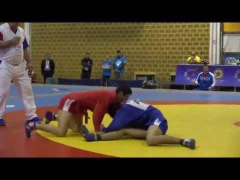 Самбо Первенство Европы 2015 МНАЦАКАНЯН Владимир (Россия) Vs АБАСЛИ Намиг (Азербайджан) - юноши 56