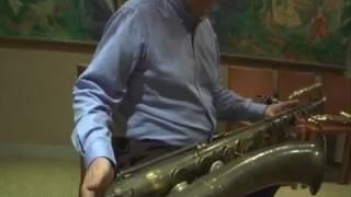 C bass saxophone Millereau played by Frédéric Couderc