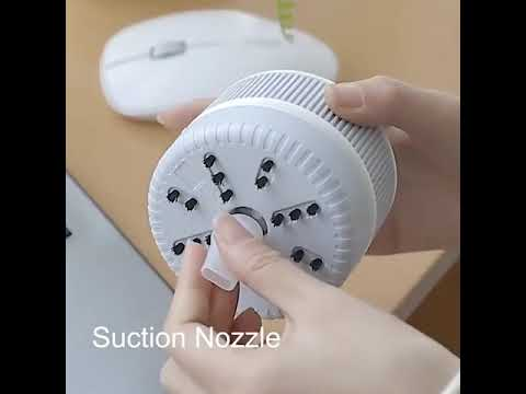 Desktop Keyboard Vacuum Cleaner Cleaning Tool - Milk White