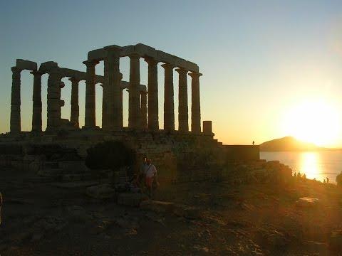 Panoramas of the Temple of Poseidon, Sounion, Greece