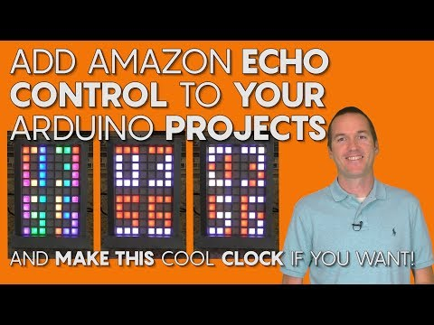 Alexa Control for your DIY Projects (and a cool LED clock if you want!).