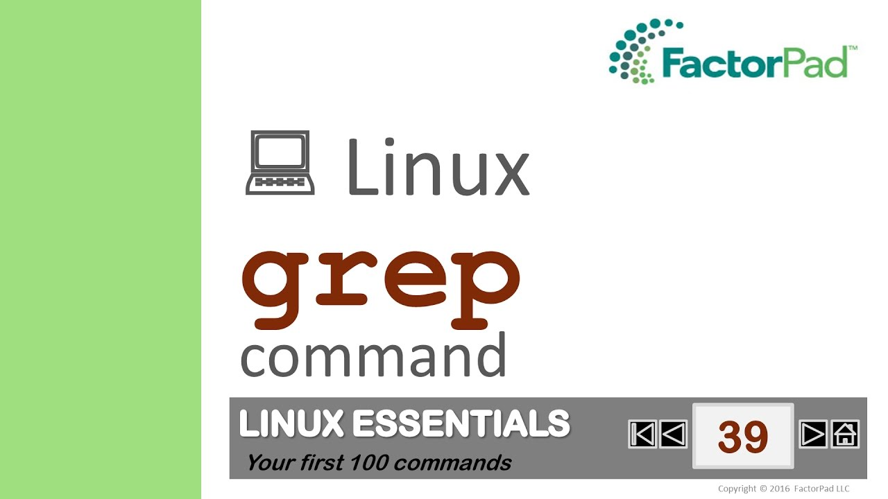 Linux Grep Command Summary With Examples Youtube