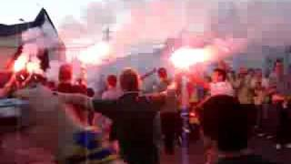 Lithuania fans on the way to Cluj Stadium