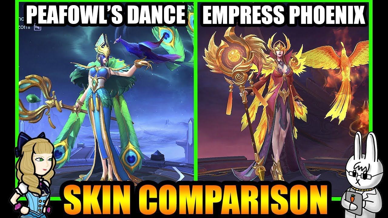 PHARSA EMPRESS PHOENIX EPIC SKIN EFFECTS VS. PEAFOWL'S DANCE - MLBB SKIN COMPARISON SERIES