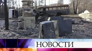 С новой силой вспыхнули природные пожары в Иркутской области.