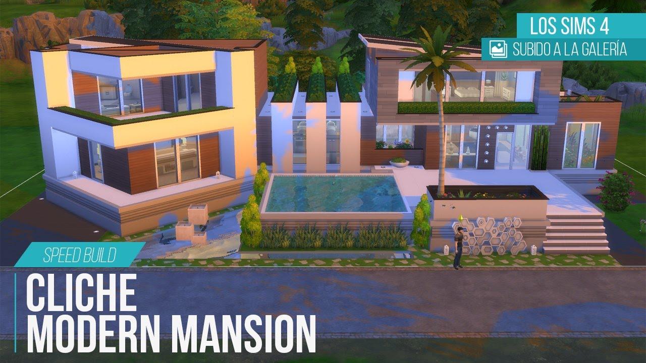 Mansi n moderna clich 1 los sims 4 youtube for Mansiones lujosas modernas