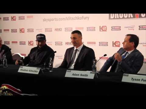 WLADIMIR KLITSCHKO V TYSON FURY 'INCREDIBLE' FULL LONDON PRESS CONFERENCE (UNCUT) / KLITSCHKO V FURY