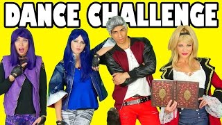 dance challenge descendants mal vs evie vs cj disneytoysfan