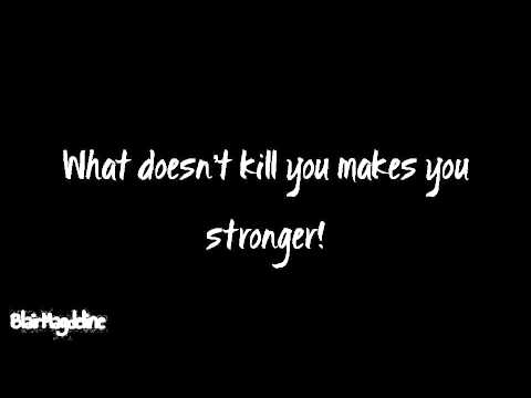 Kelly Clarkson Stronger What Doesn T Kill You Lyrics On Screen Youtube