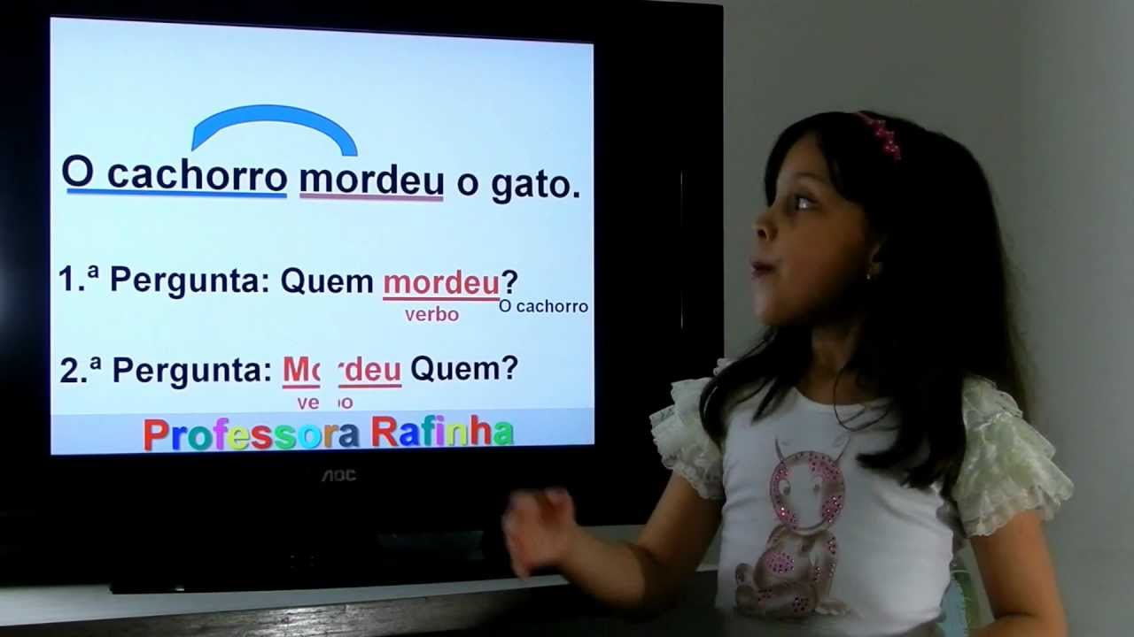 Verbo Transitivo E Intransitivo Professora Rafinha 7 Anos