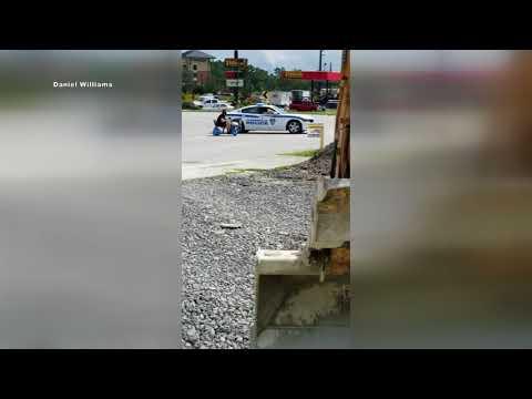 Police Chase Man Driving Walmart Motorized Cart