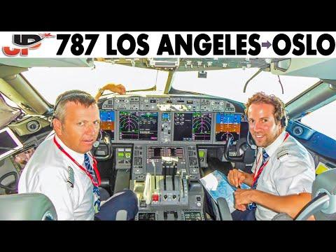Piloting NORWEGIAN BOEING 787 Los Angeles to Oslo   FULL Cockpit Flight