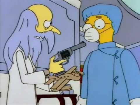 El Sr. Burns y la cumbancha volante
