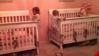 Twins Climbing Out Of Cribs! 21 Months