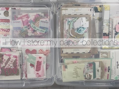 How I store my paper collections