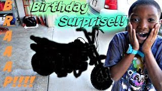 Dirt Bike Birthday Surprise