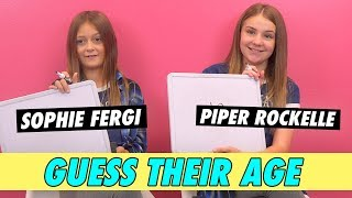 Piper Rockelle vs. Sophie Fergi - Guess Their Age