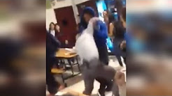Watch High School Student Body Slam Principal During Cafeteria Fight
