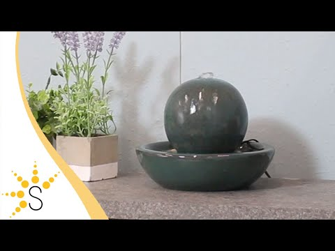 Sunnydaze Ceramic Orb Indoor Tabletop Water Fountain - SSS-560 *