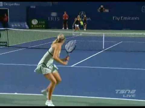 Maria Sharapova Vs Agnieszka Radwanska - drop shot moment