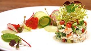 Крабовый салат. Рецепт приготовления. Crab salad.