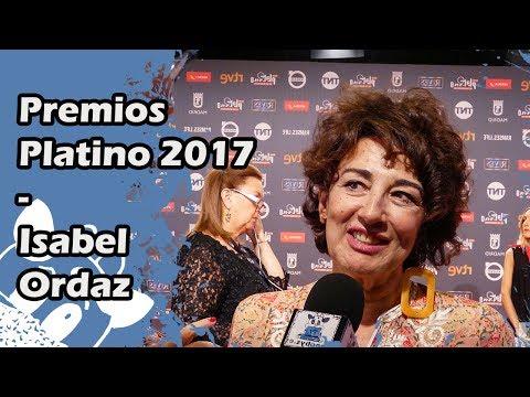 Premios Platino 2017: Isabel Ordaz