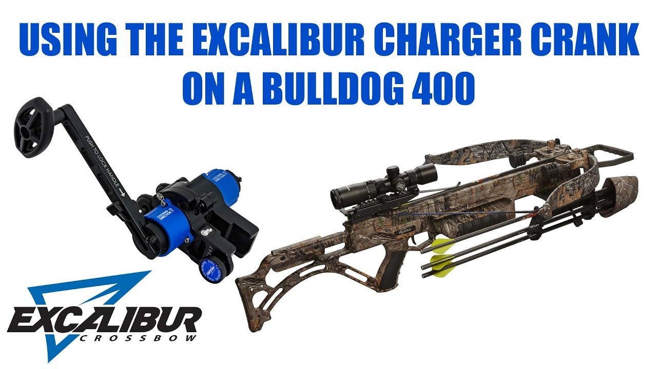 Excalibur Crossbows Charger EXT Crank On a Bulldog 400 Crossbow