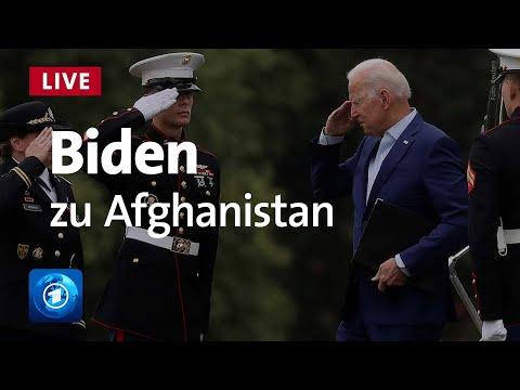 US-Präsident Biden zur Lage in Afghanistan | tagesschau LIVE