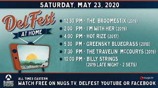 DelFest At Home: The Broomestix, I'm With Her, Hot Rize, Greensky, Travelin' McCourys, Billy Strings