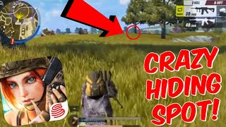 Secret Hiding Spot?! How To Win? Rules Of Survival Gameplay! (Mobile Fortnite)