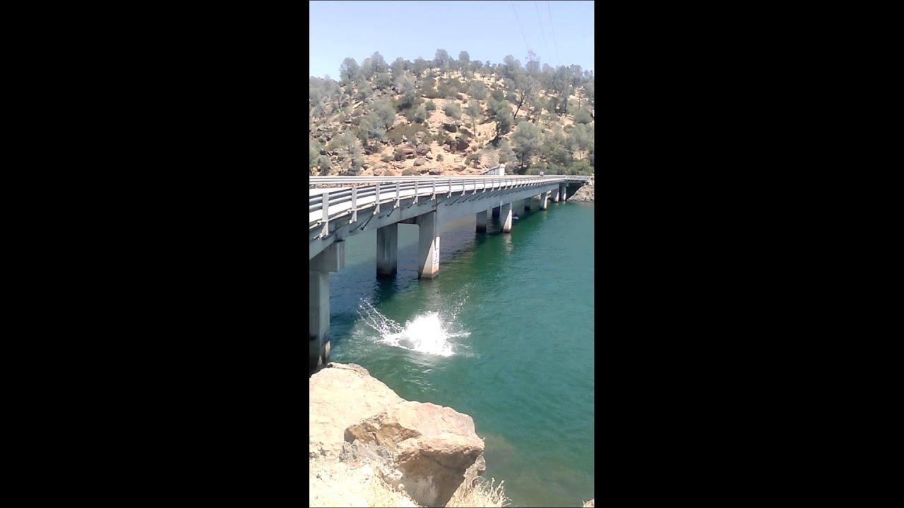 Lake tulloch bridge jump youtube for Lake tulloch fishing