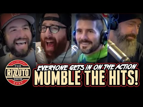 The whole crew gets in on MUMBLE THE HITS action! [Rizzuto Show]