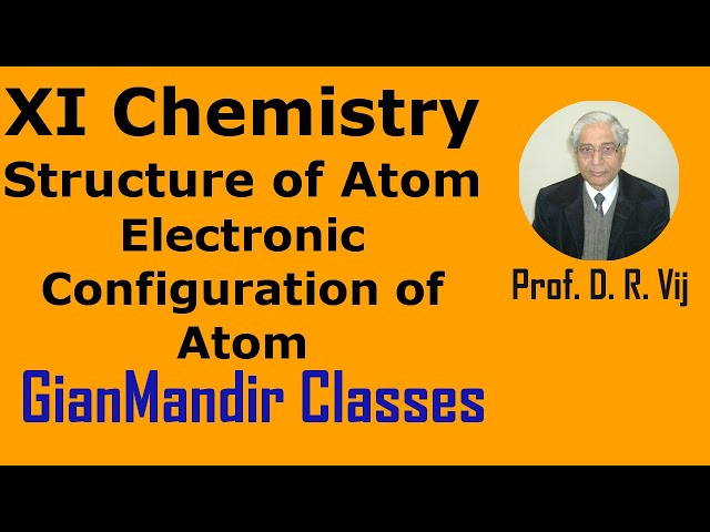 XI Chemistry - Structure of Atoms - Electronic Configuration of Atom by Ruchi Mam