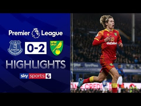 Norwich get back to winning ways! | Everton 0-2 Norwich | Premier League Highlights