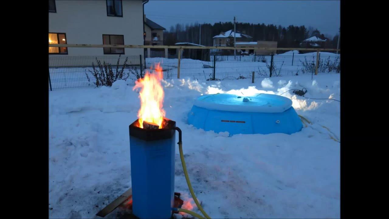 Нагреватель для бассейна Пеллетрон D - работа нагревателя - YouTube