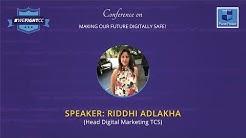 Riddhi Adlakha (Head Digital Marketing TCS) at #WeFightCC conference.