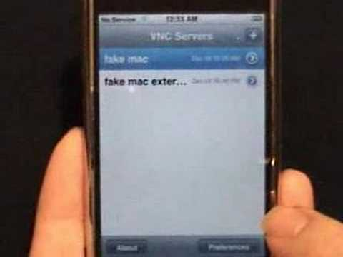 Using VNC On Hacked IPhone To Access Chat Client