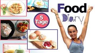 Food Diary Deutsch - Gesund abnehmen - volle 5 Tage - Fitness Ernährungsplan - mit Kalorienangabe