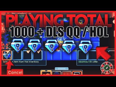 PLAYING TOTAL 1000+ DLS QQ/HOL CASINO! *Not Clickbait* (Always Winning!)   Growtopia Casino