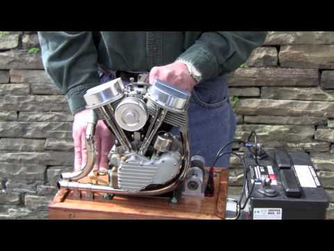 Thumbnail: Scale Running Model Harley Panhead Engine by Ron Colonna