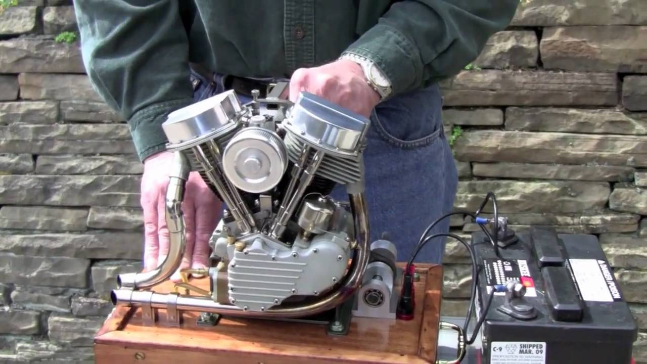 Scale Running Model Harley Panhead Engine By Ron Colonna