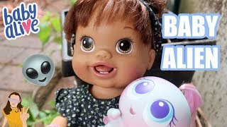 Baby Alive Abby Finds a Baby ALIEN! | Kelli Maple