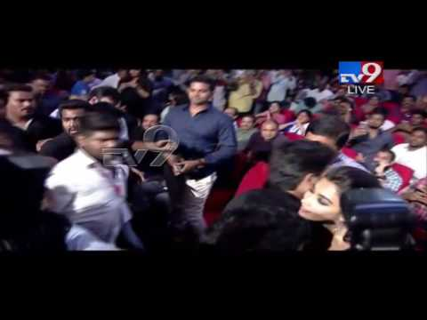 Allu Arjun entry : Fans go gaga @ DJ Audio launch - TV9