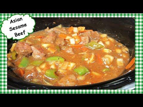 Slow Cooker Asian Sesame Beef ~ Easy Crock Pot Beef Dinner Recipe