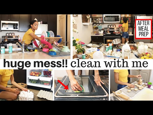 REAL LIFE HUGE MESS // CLEAN WITH ME // CLEANING ROUTINE // CLEANING MOTIVATION