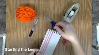 Weaving starting the Loom