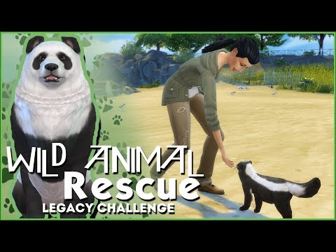 Breaking News! Wild Animals On The Loose!! 🌿Sims 4 Wild Animal Rescue Challenge #1