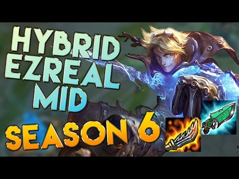 AP/Hybrid Ezreal Mid Season 6 Gameplay - League of Legends LoL Ezreal Season 6